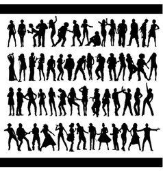 Dance and sing people vector