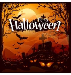 Cartoon halloween background vector