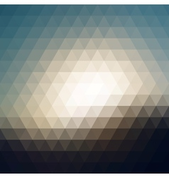 Digital triangle pixel mosaic vector