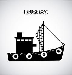 Fishing design vector