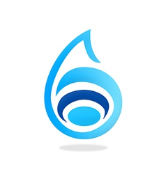 Pure water abstract logo vector