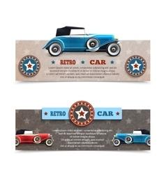 Retro car banners vector