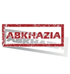 Abkhazia outlined stamp vector