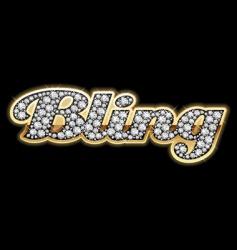 Bling bling style vector