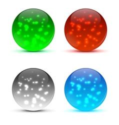 Bright colorful icon balls vector