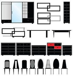 Furniture for the house vector