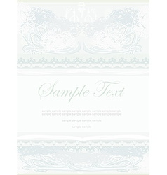 Elegant abstract vintage frame invitation vector