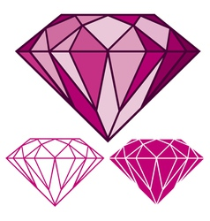 Pink diamond vector