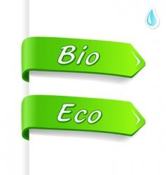 Bio and eco tags vector