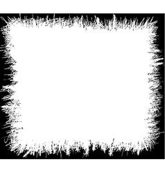 Grunge scribbles frame vector