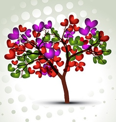 Stylish heart tree vector
