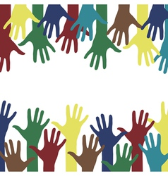 Hands background vector