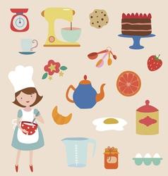 Baking clip art vector