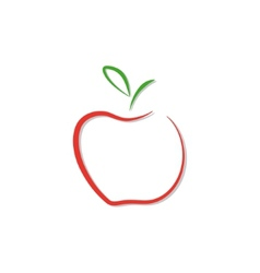 Red apple logo isolated vector