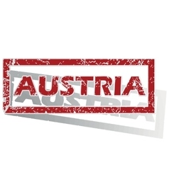 Austria outlined stamp vector
