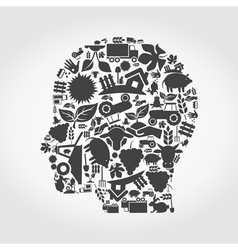 Head agriculture vector