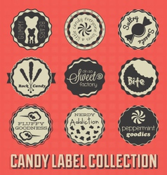 Candy and sweets labels vector