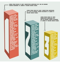 Business steps to success and graphs options vector