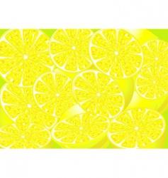Juicy lemons vector