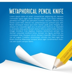 Abstract background metaphorical pencil stationary vector