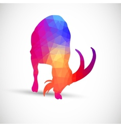 Geometric silhouettes animals goat ibexes vector