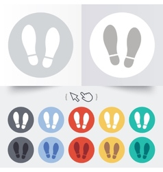 Imprint shoes sign icon shoe print symbol vector