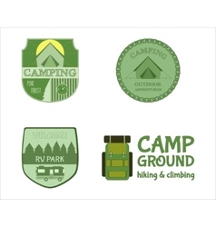 Adventure outdoor tourism travel logo vintage vector