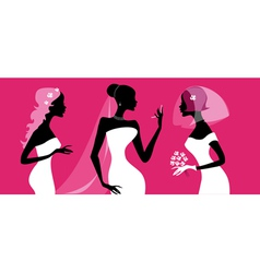 Brides silhouettes vector