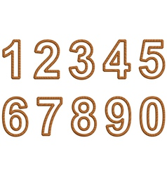 Numbers with texture of wood vector