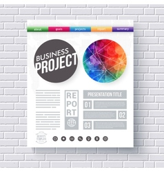 Artistic design template for a business project vector