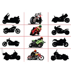 Motorbikes vector