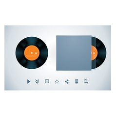 Vinyl disk and envelope vector