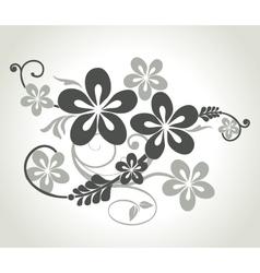 Floral curls vector