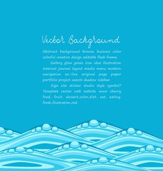 Blue background with ocean waves vector