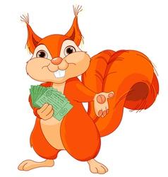 Squirrel with tickets vector