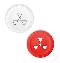 Buttons with radioactive symbol vector