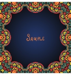 Kaleidoskopic frame ornate frame with paisley vector