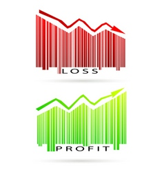 Profit and loss graph vector