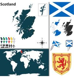 Scotland map world vector
