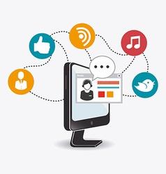 Online media design vector