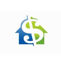 Money luxury house vector