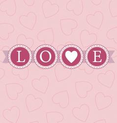 Love word circles pastel vector