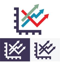 Chart option icon vector