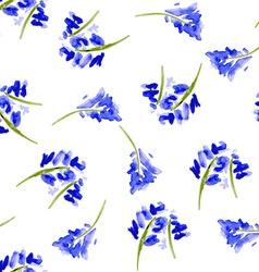 Sketch watercolor flowers in vintage style vector