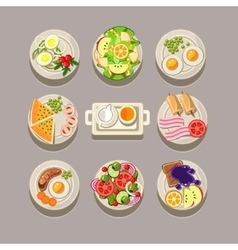 Breakfast concept with fresh food vector