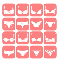 Lingerie icons vector