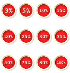 Sale percent price tag flat icons vector