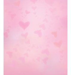 Heart pink background vector