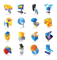 Icons for technology vector