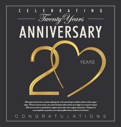 20 years anniversary black background vector